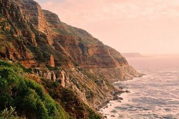 Chapman's Peak Drive winds it way between Noordhoek and Hout Bay, Cape Town\'s South Peninsula