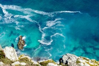 Atlantic Ocean colours at Cape Point, Cape Town\'s South Peninsula
